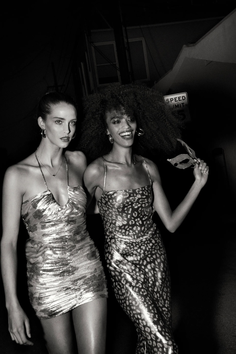 Bold metallics stand out in Zara's summer 2021 party dresses.