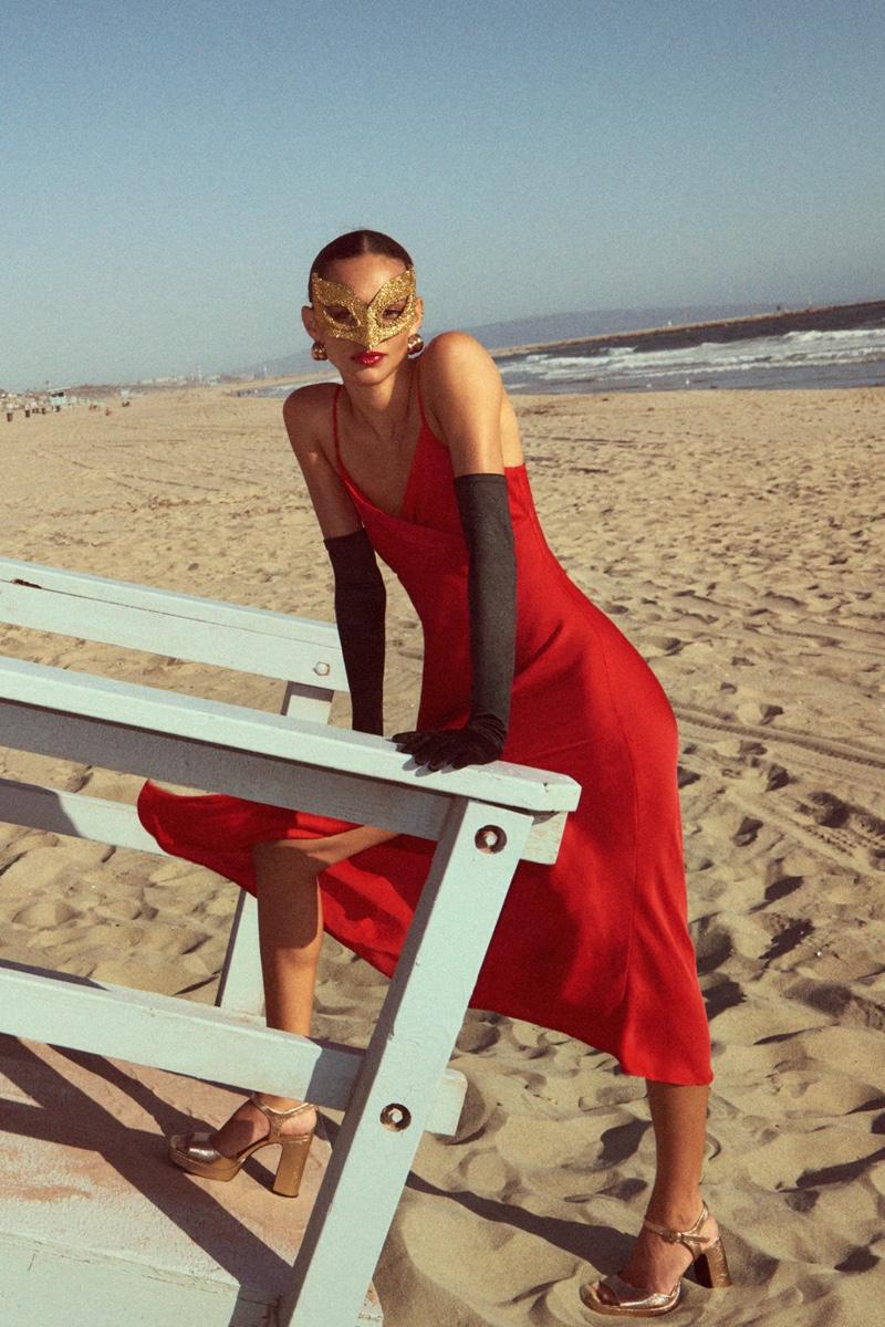Zara Satin Lingerie Style Dress.