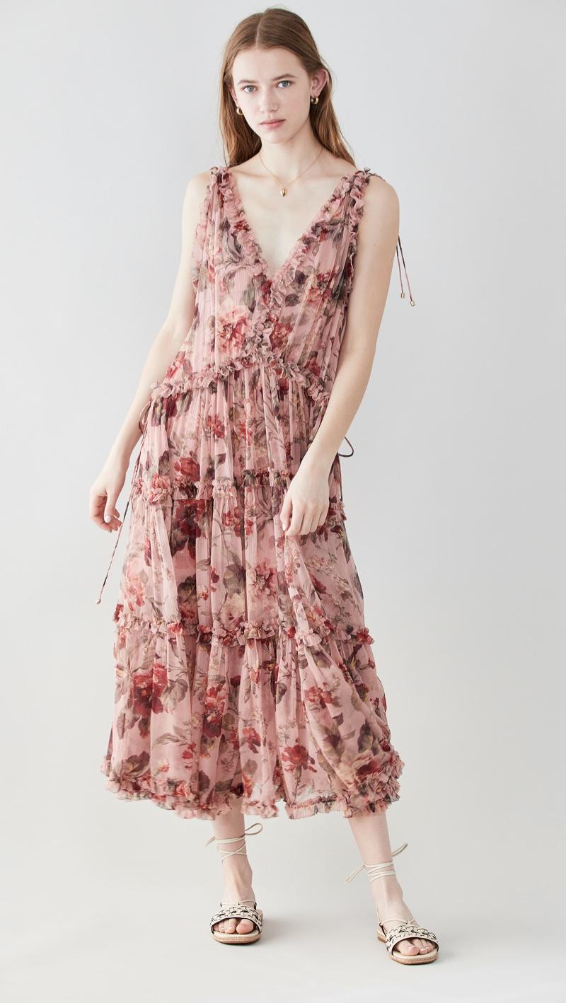 Zimmermann Cassia Frill Midi Dress $1,150