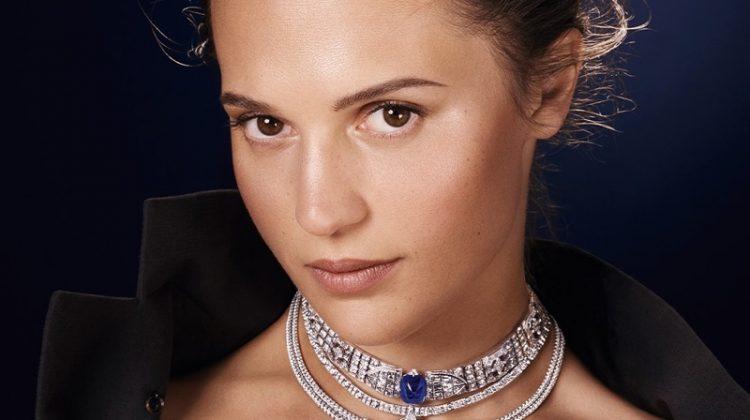 Alicia Vikander stars in Louis Vuitton Bravery High Jewelry campaign.