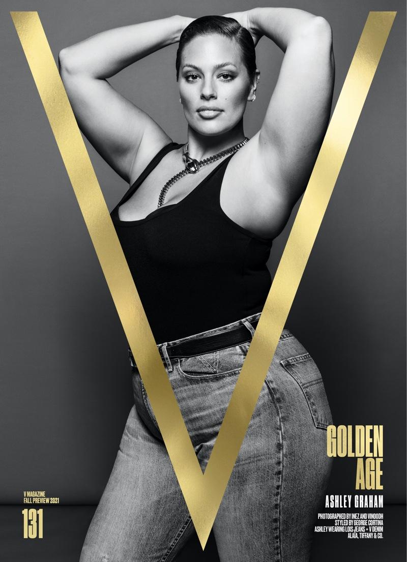 Ashley Graham on V Magazine #131 Pre-Fall 2021 Cover. Image: Courtesy of V Magazine / Inez & Vinoodh