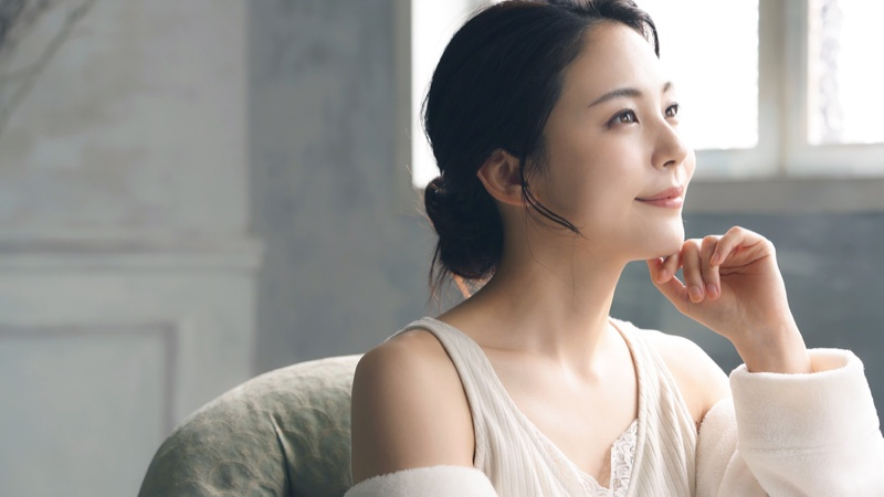 Asian Woman Natural Skin Beauty Lifestyle