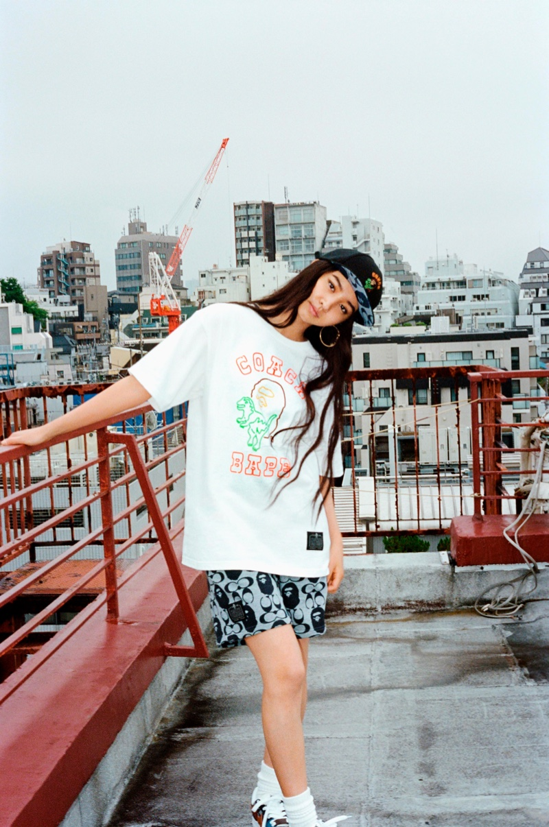 Streetwear brand BAPE collaborates with American fashion label Coach on new collection.