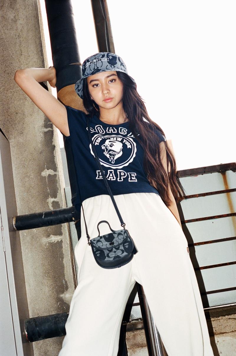 Model Kōki stars in BAPE x Coach Collection campaign.