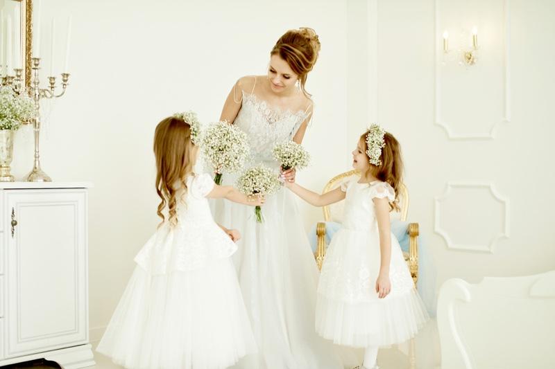 Bride Flower Girls Dresses Daughters Wedding