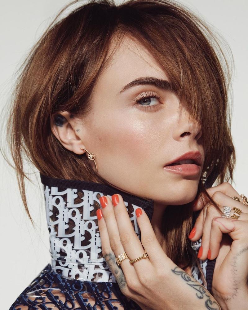 Cara Delevingne Gets Her Closeup in Dior Makeup for ELLE Japan