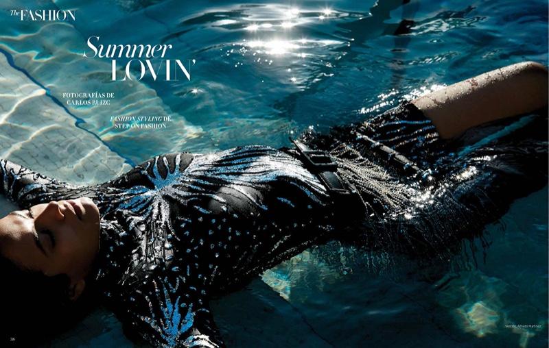 Celic Dorig Enchants in Beach Fashion for Harper's Bazaar Mexico