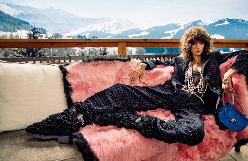 Mica Argañaraz stars in Chanel fall-winter 2021 campaign.
