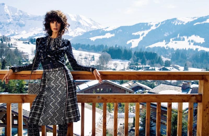 Model Mica Argañaraz fronts Chanel fall-winter 2021 campaign.