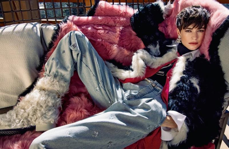 Model Louise de Chevigny stars in Chanel fall-winter 2021 campaign.