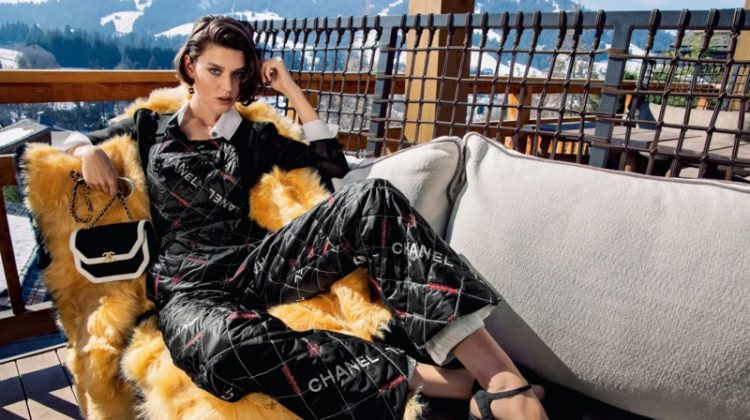 Vivienne Rohner fronts Chanel fall-winter 2021 campaign.