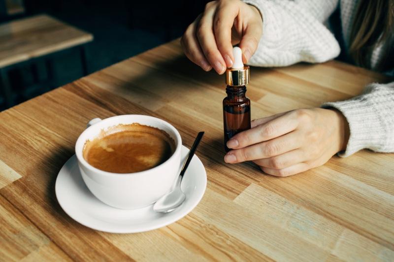 Coffee Cup CBD Oil Bottle