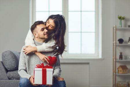 Couple Gift Hugging Love