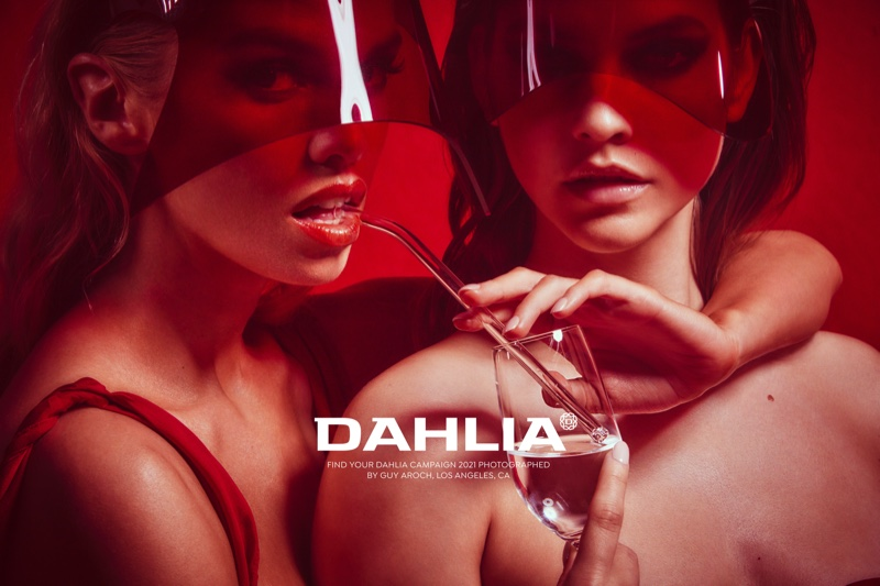 Stella Maxwell and Barbara Palvin pose for Dahlia Tequila campaign.