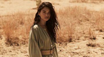Erika Peña Sage Ruffled Maxi Dress $278