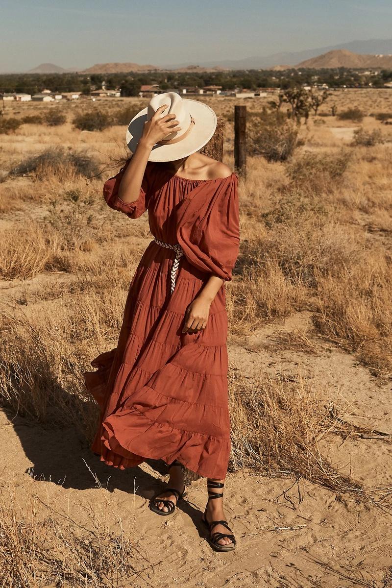 Erika Peña Tiered Off-the-Shoulder Maxi Dress $188