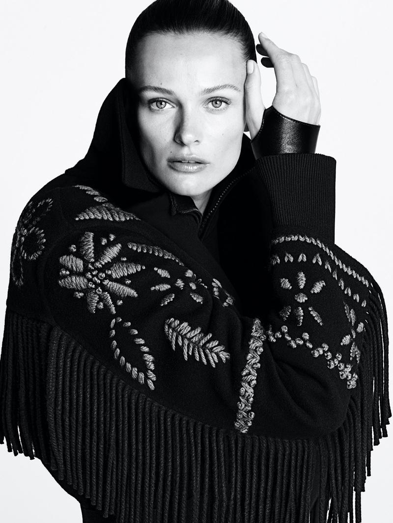 About Face: Edita Vilkeviciute gets her closeup in Ermanno Scervino fall-winter 2021 campaign.