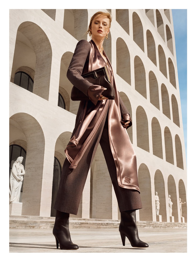 An image from Fendi's fall 2021 advertising campaign.