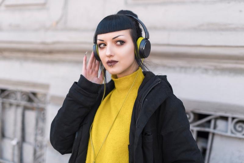 Goth Girl Urban Headphones