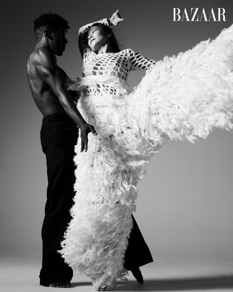 Lloyd Knight and Xin Ying of the Martha Graham Dance Company.