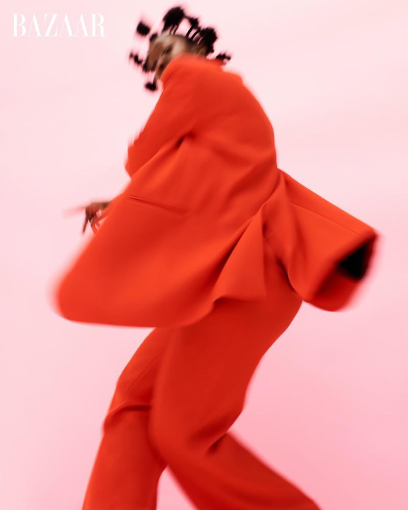 Tatiana Desardouin suits up in Ami Paris blazer and trousers.