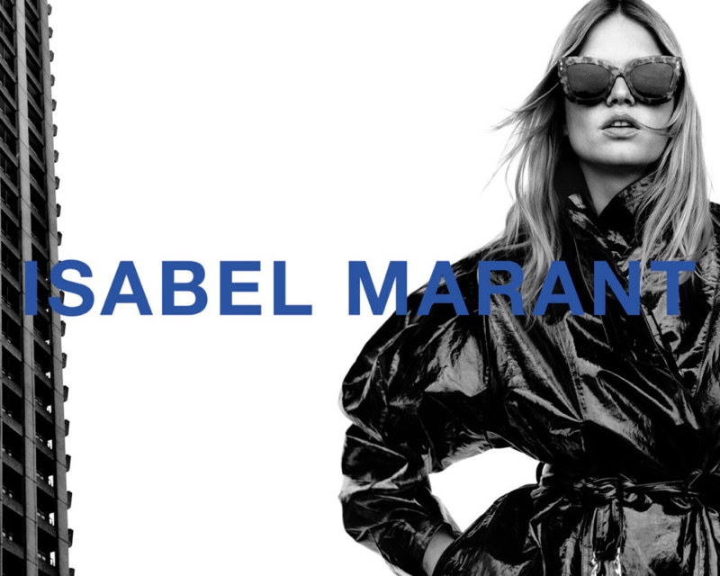 Anna Ewers poses for Isabel Marant fall-winter 2021 campaign.