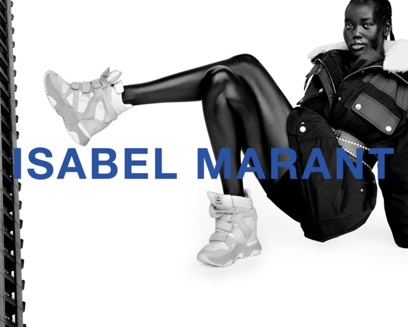 Adut Akech stars in Isabel Marant fall-winter 2021 campaign.