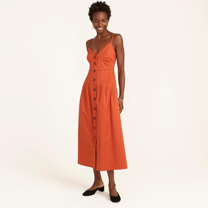 J. Crew Button-Front Midi Dress $198