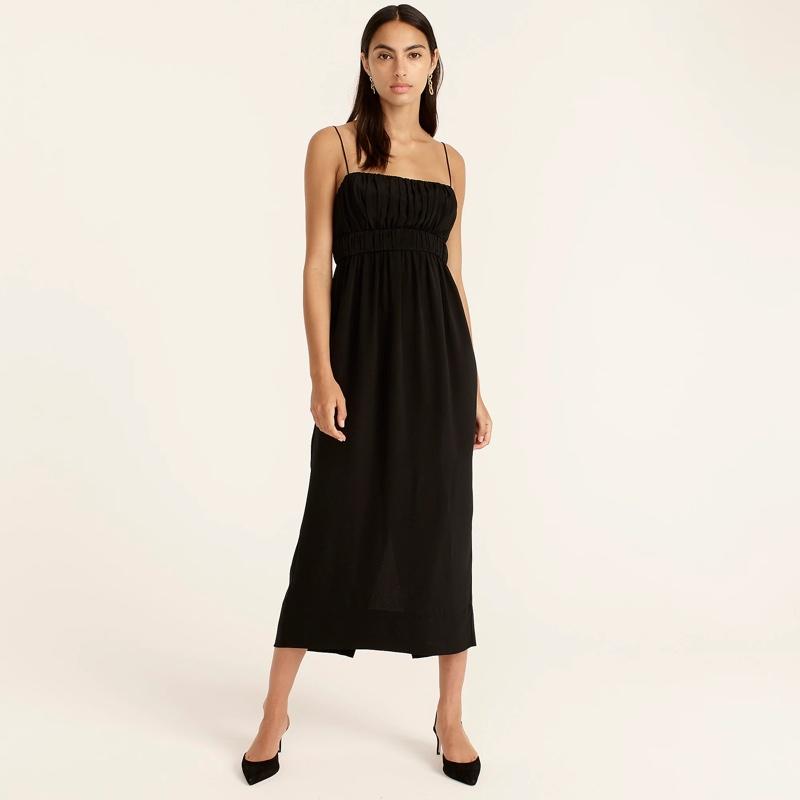 J. Crew Gathered Waist Midi Dress $348
