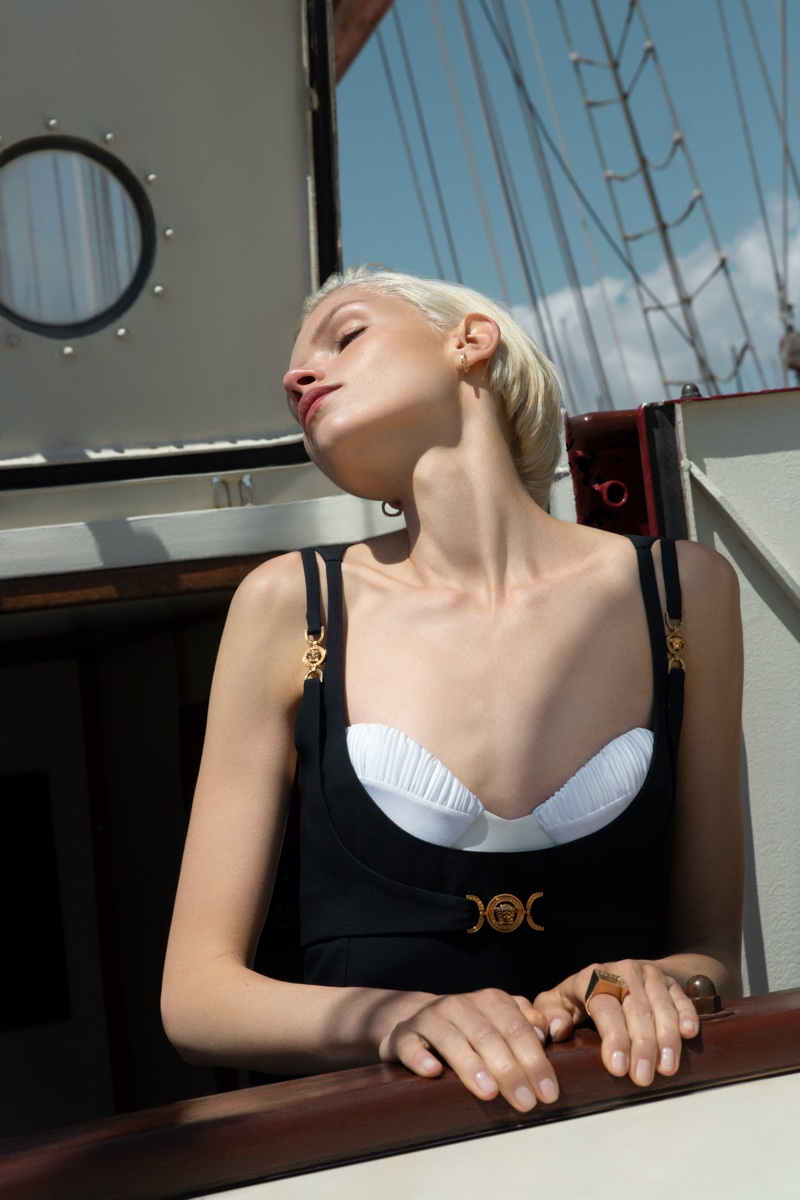 Kate Kina Wears Seafaring Style for Marie Claire Hong Kong