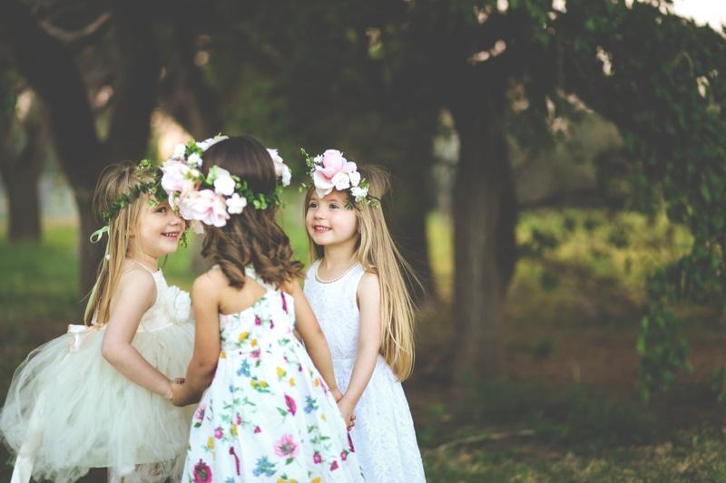 Little Girls Flowers Hair Pretty Dresses