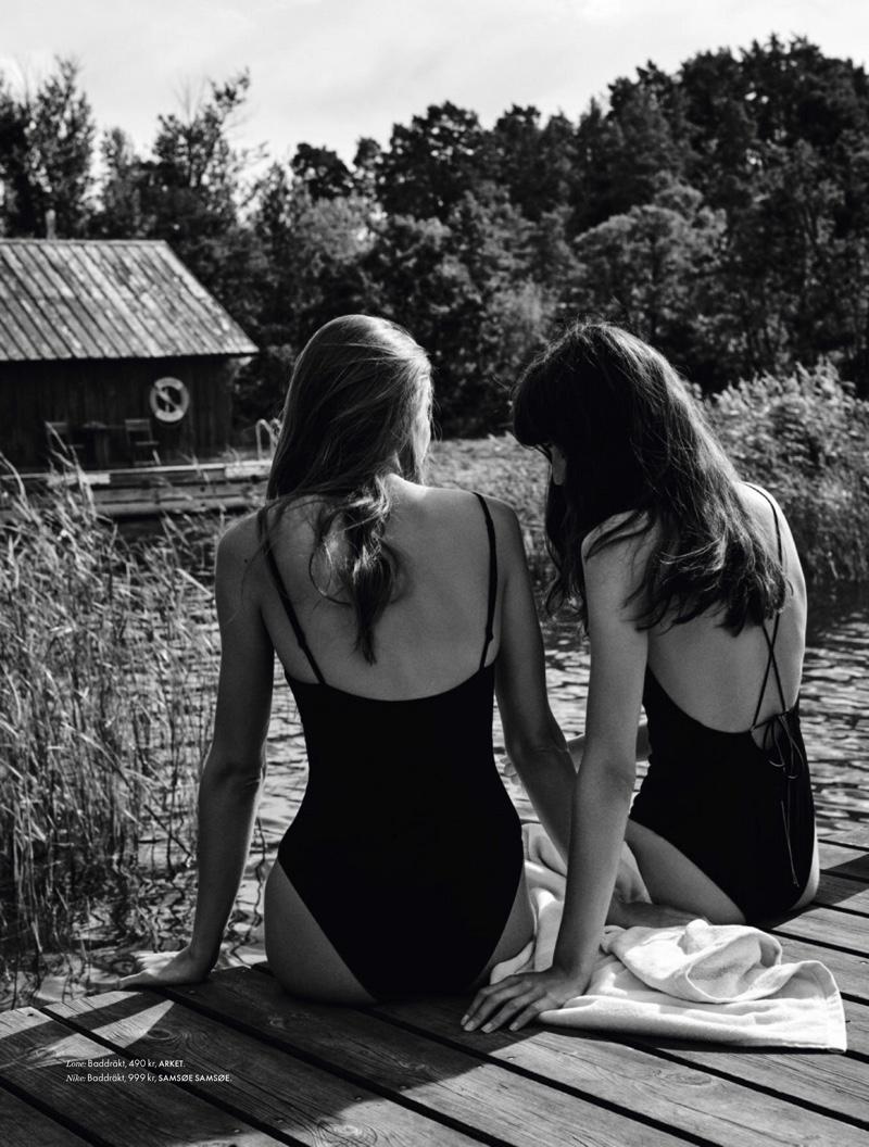 Lone & Nike Praesto Model Summer Swimwear for ELLE Sweden