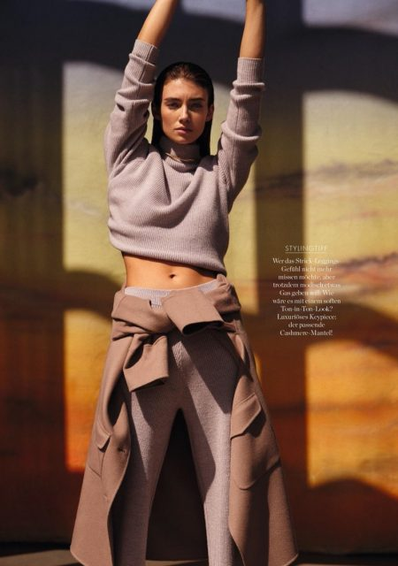 Lorena Rae Poses in Relaxed Silhouettes for Elle Germany