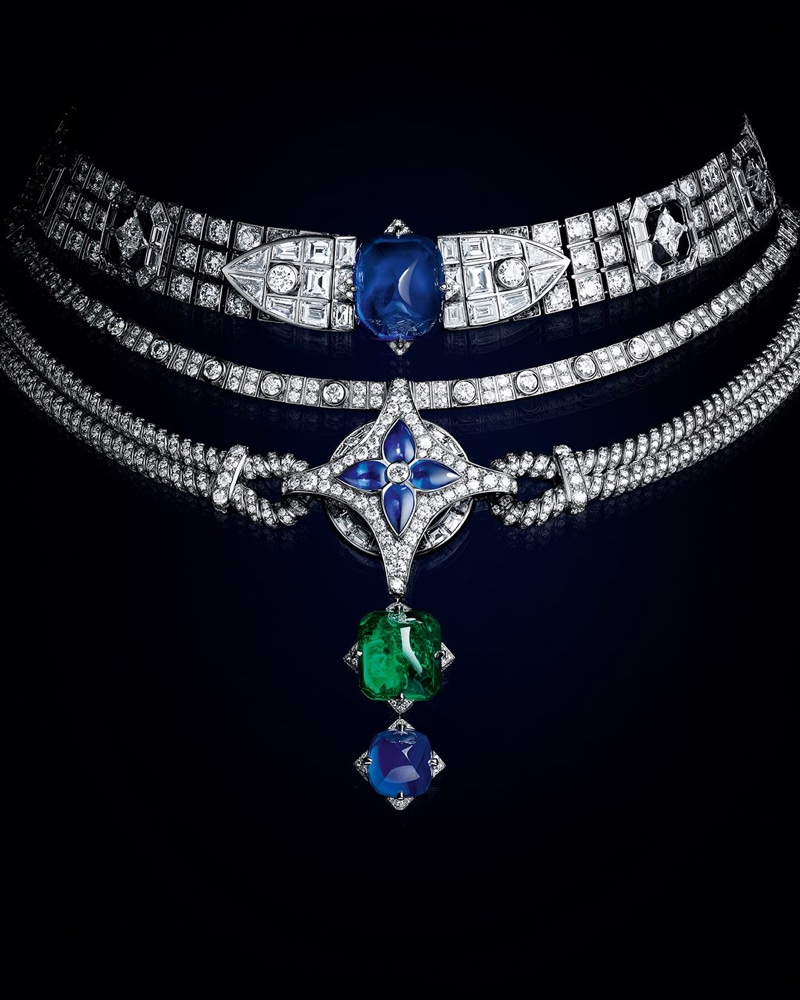 Louis Vuitton Le Mythe High Jewelry Necklace.