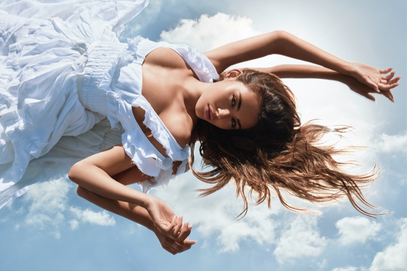 Singer Madison Beer poses for Victoria's Secret Tease Crème Cloud fragrance campaign.