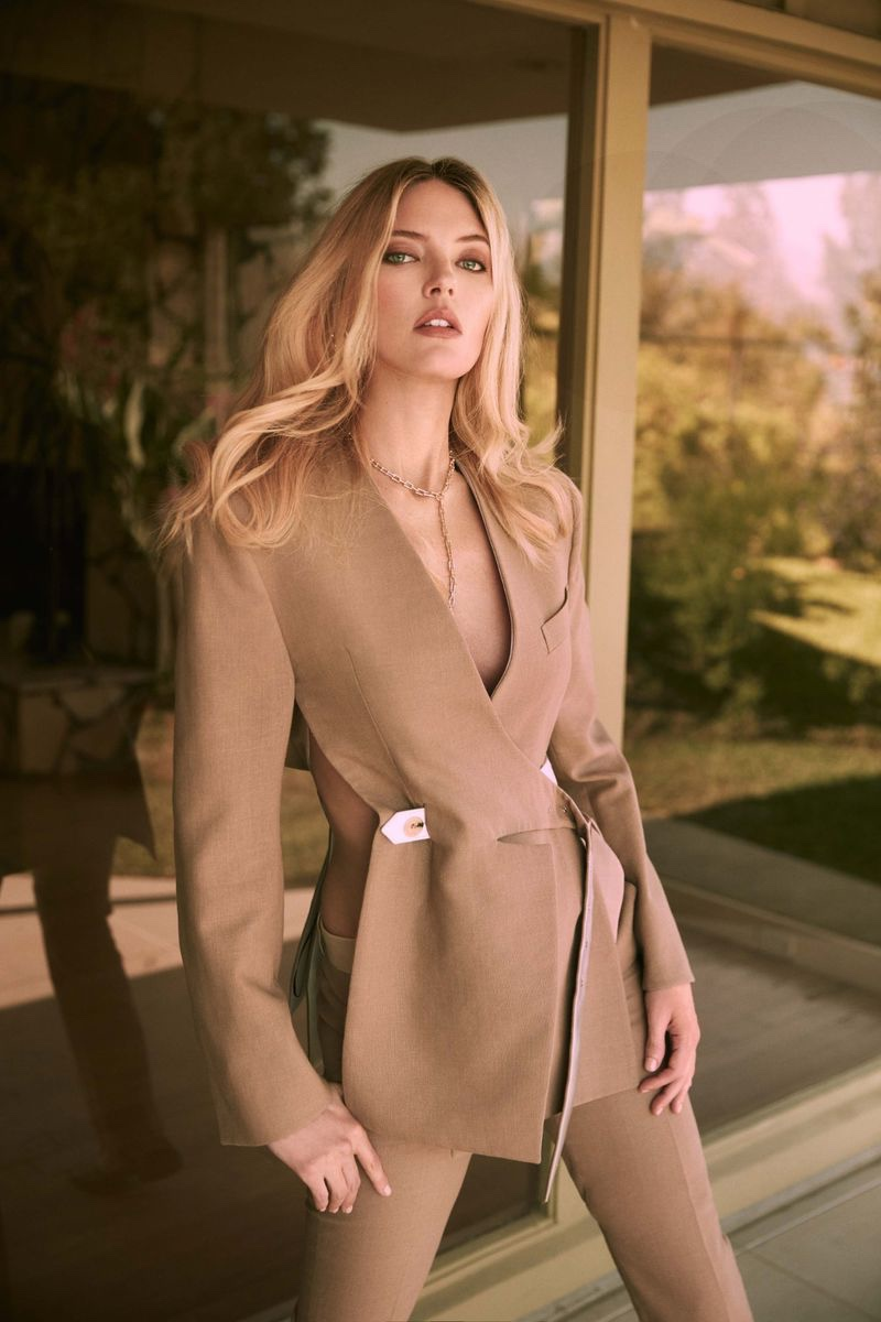 Martha Hunt Poses in Sophisticated Styles for Harper's Bazaar Greece
