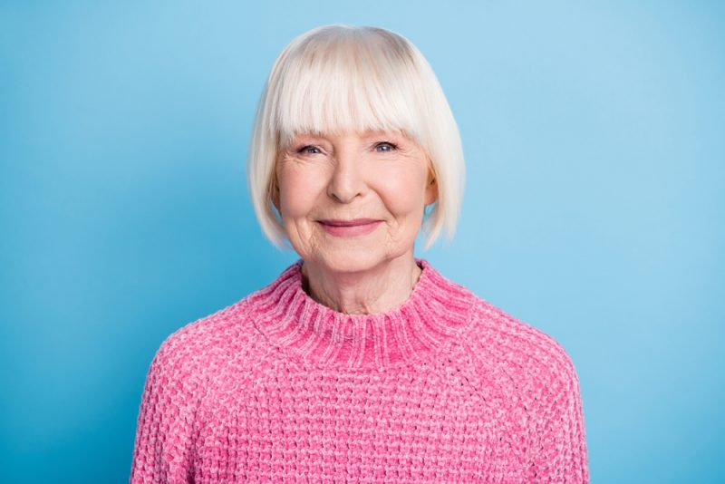 Mature Woman Framed Face Short Hairstyle