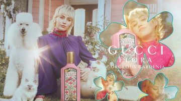 Miley Cyrus stars in Gucci Flora Gorgeous Gardenia fragrance campaign.