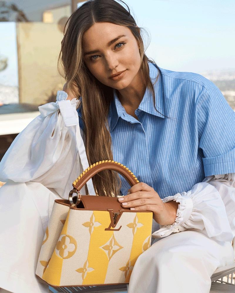 Miranda Kerr stars in Louis Vuitton Capucines 2021 handbag campaign.