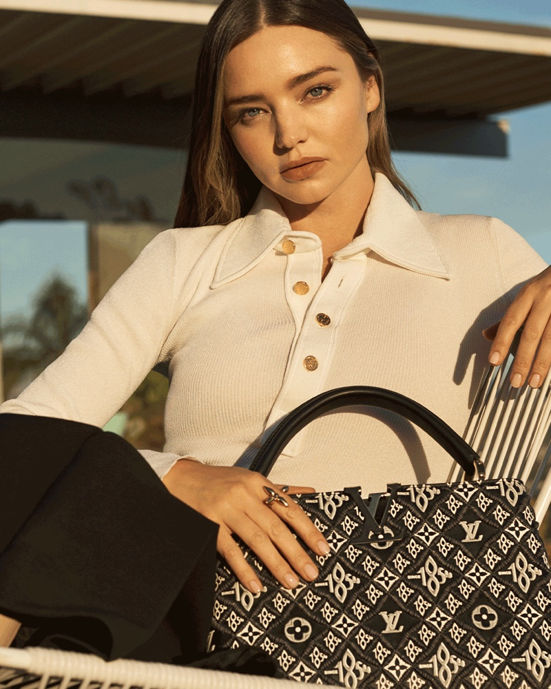 Louis Vuitton unveils Capucines handbag campaign featuring Miranda Kerr.