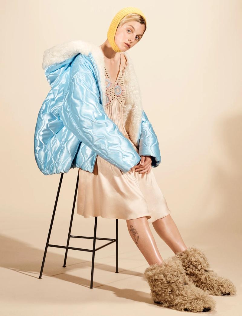 Emma Corrin stars in Miu Miu fall-winter 2021 campaign.