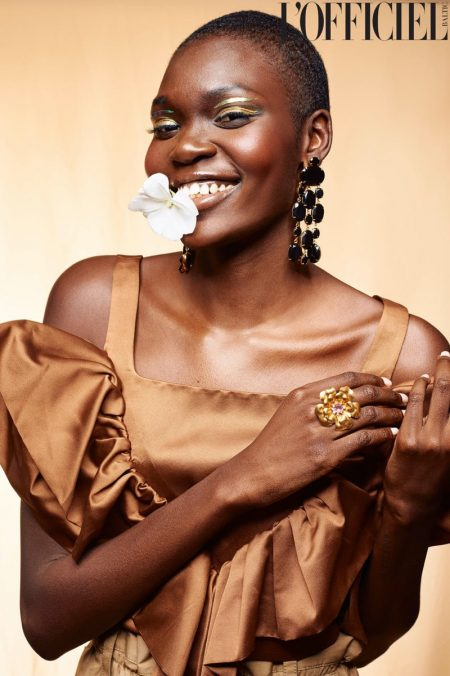 Nanny Malual Blossoms in Floral Beauty for L'Officiel Baltics