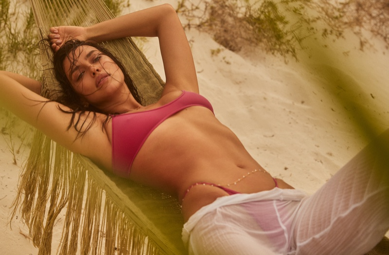 Irina Shayk looks hot in REVOLVE x Tropic of C Swim campaign. Photo: David Roemer