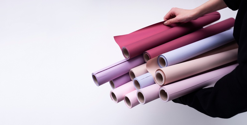 Rolled Wallpaper Multicolor Options Hand