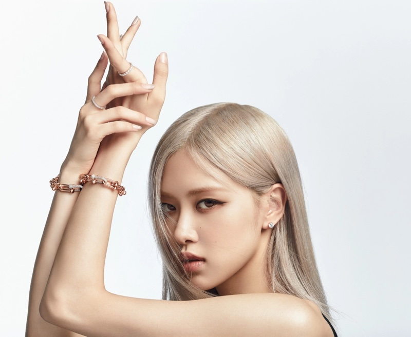 Striking a pose, Rosé poses as the new global ambassador for Tiffany & Co.