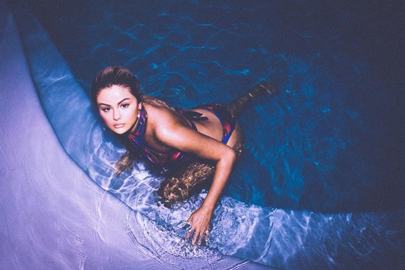Selena Gomez stars in La'Mariette x Selena Gomez swimsuit campaign.