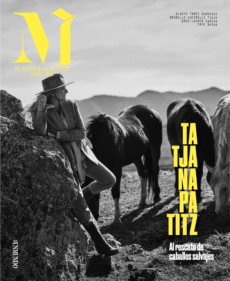 Tatjana Patitz on M Milenio Magazine Issue #6 Cover.