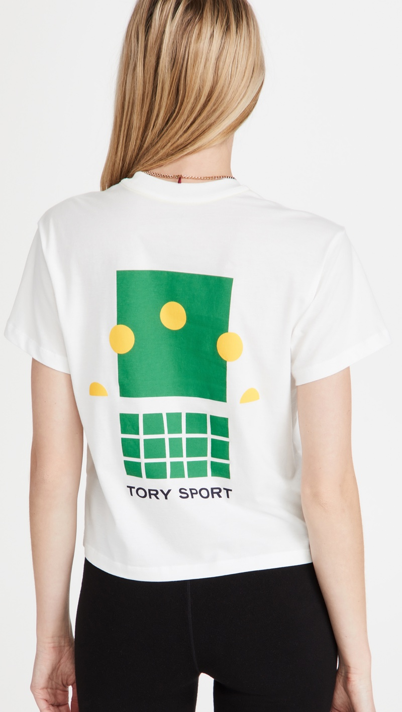 Tory Sport Graphic Cropped T-Shirt $108