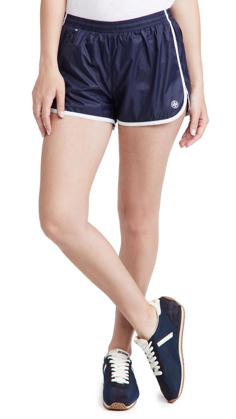 Tory Sport Lightweight Nylon Track Shorts $98