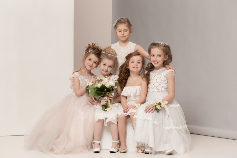 Wedding Attire Dresses Kids Girls Flowers